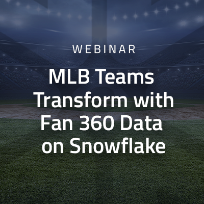 MLB Teams Transform with Fan 360 Data on Snowflake